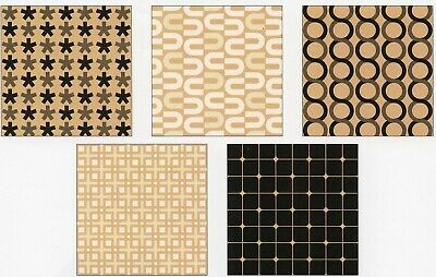20pc 25pc Craft Pattern Square Origami Brown Craft Paper, 2 sizes 7.5cm or 15cm