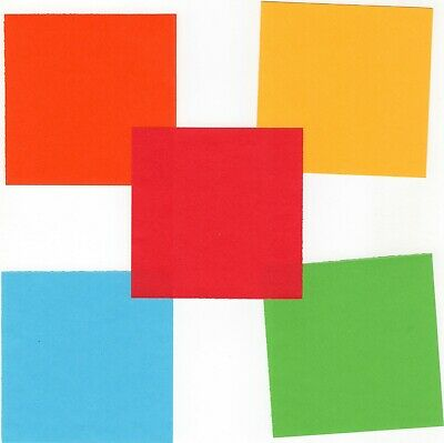 20pc 25pc Double Side Colour Square Origami Craft Paper, 2 sizes 7.5cm or 15cm