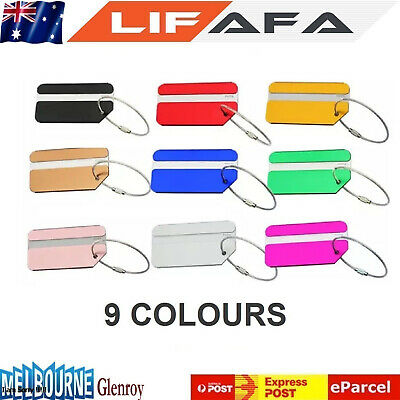 Aluminium Metal Tag for Bag Travel Luggage Baggage Suitcase Carry on Sa Seller
