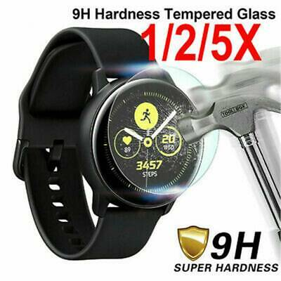1-5PCS For Samsung Galaxy Watch Active 2 Tempered Glass Screen Protector Film