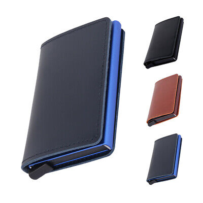 Credit Card Holder PU Leather Wallet Slim Mens RFID Blocking Purse Fashion Sport