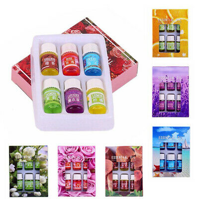 Aromatherapy Essential Oil Set 6 Pack Pure Natural Therapeutic Grade Oils Lot