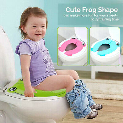 Foldable Potty Training Seat Baby Travel Toilet Potty Seat Cover Non Slip Pad