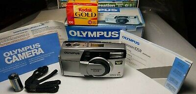 Olympus Super Zoom 105R 35mm Point & Shoot Film Camera w/BOX & Strap from Japan