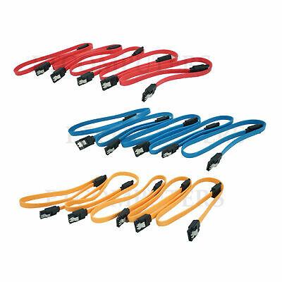 40cm SATA DATA Cable Straight Metal Clip Optical HDD SSD DVD  Comlputer PC