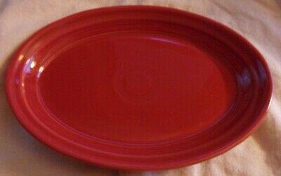 """NWTags 1st Quality Scarlet Red Fiesta Fiestaware Small Oval Platter 9&5/8"""" X 7"""""""