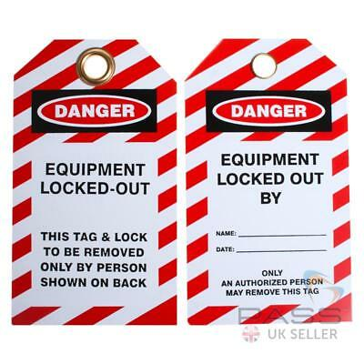 Lockout Tagout Tags - 'Equipment Locked Out' - Pack of 10