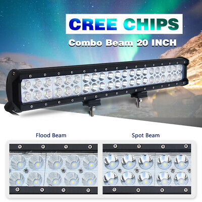 "20"" LED Light Bar Spot Flood Combo Beam 420W Drivnig Lamp for Pickup UTV ATV 22"""