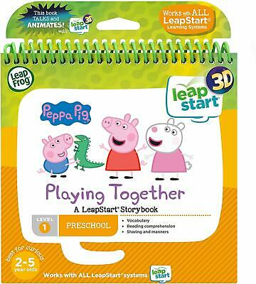 LeapFrog Leapstart Nursery Peppa Pig Story Book 3D Enhanced For Kids Skills New
