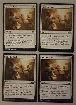 4x Gird for Battle Guilds of Ravnica GRN MTG M//NM Playset