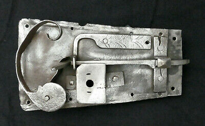 Original Antique Door Lock Open Castle Baroque Made of Iron Without