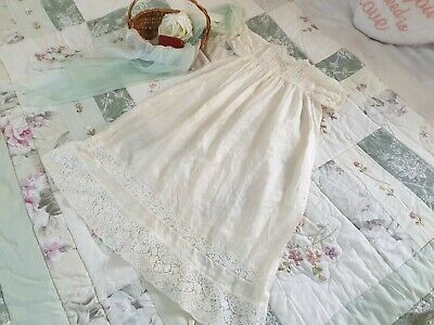 Stunning Antique Silk Vintage Christening Gown Dress, Babies, Dolls, Dress up