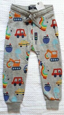 BNWT Next Boys 5-6 Years Transport Print Grey Joggers