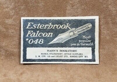 Vintage Esterbrook Falcon 048 Empty Small Paper Sleeve Holder for Fountain Pen