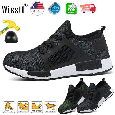 Men's Indestructible Work Shoes Steel Toe Boots Bulletproof Military Sneakers US