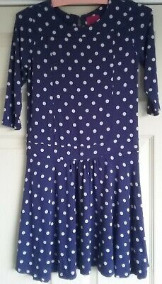 JOULES GIRLS 9/10 years Navy/white spot Dress, holidays, occasion