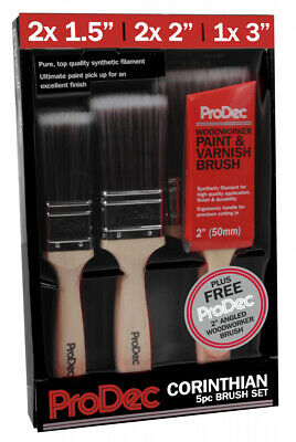 ProDec DIY Decorating Corinthian 6 Piece Paint Varnish Brush Set