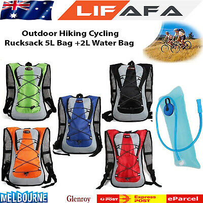 Hiking Camping Cycling Running Hydration Pack Backpack Bag + 2L Water Bladder F1