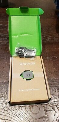 New In Box Genuine Whistle FIT Activity Monitor For Pets Green With USB Cable
