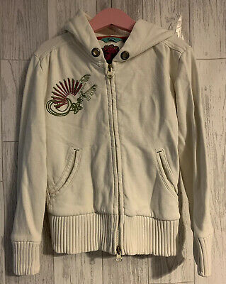 Girls Age 6-7 Years - Fat Face Hooded Zip Up Top