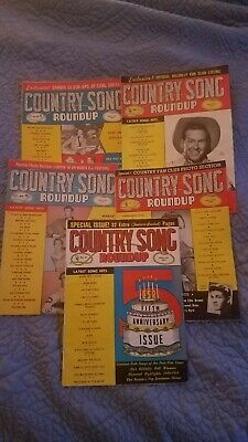 Country Song Roundup Magazine Lot