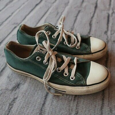Vintage Converse Chuck Taylor Shoes Made in USA Green Sneakers