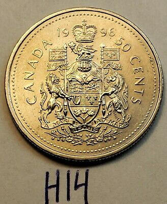1996 CANADA 50 CENTS  Half Dollar COIN Uncirculated from roll