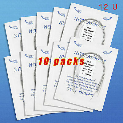 10 Dental Orthodontic Heat thermal Activated Niti Round Arch Wire 12Upper RWZQ