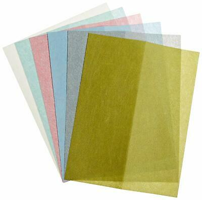 """KEEN 8.5""""x11"""" Assorted Pack One Each 1, 2, 3, 9, 15 & 30 Micron Polishing Papaer"""