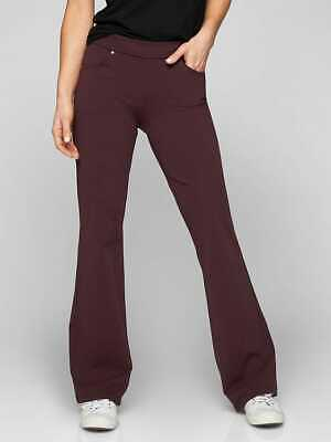 ATHLETA Bettona Classic Pant XS in Cassis Burgundy Workout Yoga Pants w/ Pockets