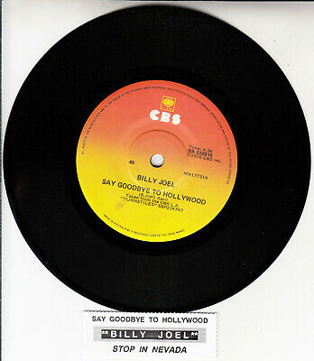 """BILLY JOEL  Say Goodbye To Hollywood & Stop In Nevada 7"""" 45 rpm vinyl record NEW"""