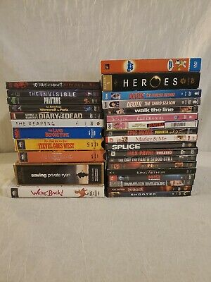 Lot of  29 DVDs VHS movie lot Action Horror Sci-Fi Family Kids TV Series Video