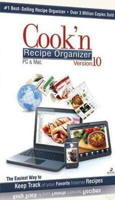 Cook'n Recipe Organizer 10 PC DVD custom track internet cooking plans cookbook