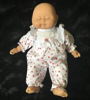 "Lissi Baby Doll West Germany Sleepy Sleeping 12"" Rubber Soft Body Dimples"