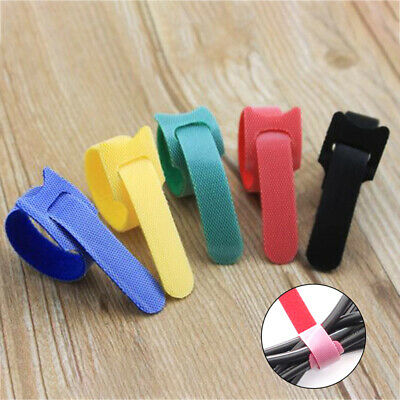 50pcs Thin Ties Cable Cord Organizer Reusable Straps FE