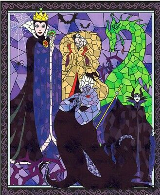 Diabolically Devious Quilt Panel * Stained Glass Villians * New * Free Post *