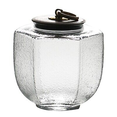 Chinese Kung Fu Hammer Glass Tea Caddy Canister Japanese Porcelain Containe Z5D8