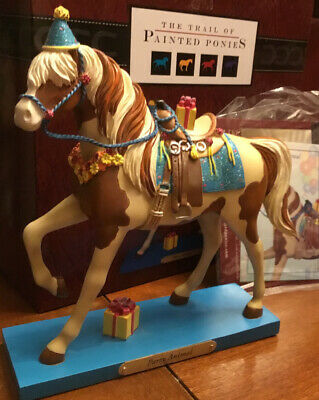 PARTY ANIMAL, Trail Of Painted Ponies, 1E 2923 NEW Resin Figurine, Box, Tag.