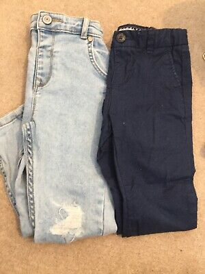 River Island And H&M Aged 3-4 Distressed Jeans And Chinos
