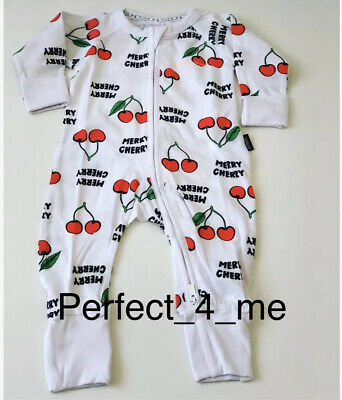 Bonds Wondersuit Size 000 Merry Cherry 0-3 Months Christmas White Zippy NEW