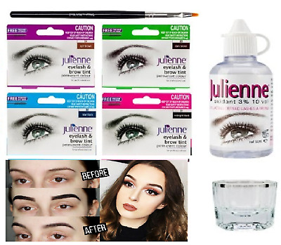 Julienne Professional Tinting Eyelash & Eyebrow Dye Tint Lash Kit - All Colours*