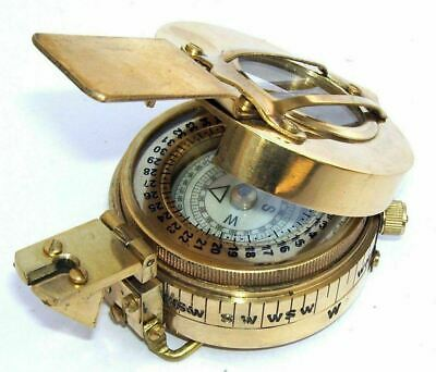 Military Compass Engineering Compass Prismatic Handmade Vintage Nautical Style,