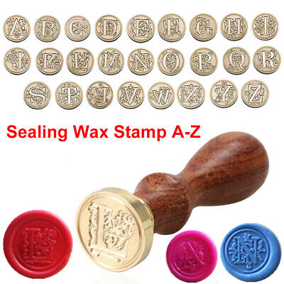 Retro Classic Alphabet Initial Sealing Wax Seal Stamp Invitations Letter A-Z
