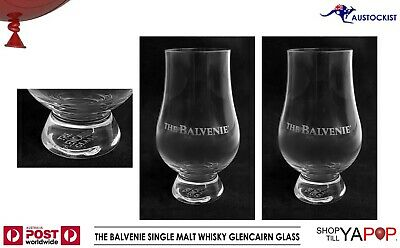 The Balvenie Single Malt Whisky 2 x Etched Glencairn Glasses BNWOB 320m Scotland