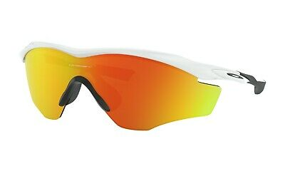 Oakley M2 Frame XL Sunglasses OO9343-05 Polished White W/ Fire Iridium Lens