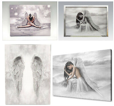 Glitter Angel & Angel Wings Canvas Wall Art Home Decoration Hanging Pictures New