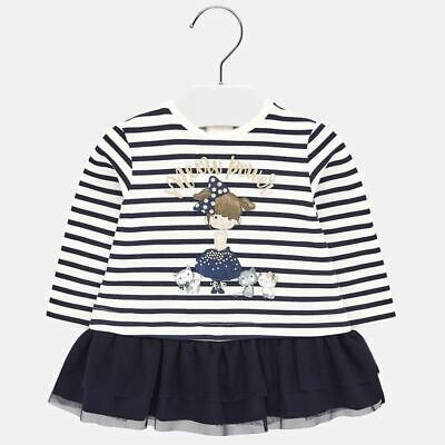 "Mayoral Infant Girls Gingham Print'Vichy Dress"" in Navy aged 12-36 months 1928"
