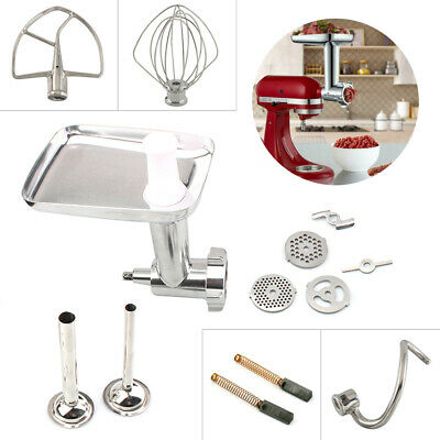 Meat Grinder Flat Beater Wire Whip Spiral Dough Hook For KitchenAid Stand Mixers