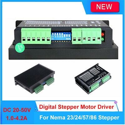 Digital Basic Stepper Motor Driver 1.0-4.2A 20-50V For Nema 17/23/24 57/86 TTL