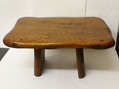 Lovely Antique old Milking/Step Up Stool  Solid Oak Rustic Shabby Country Chic